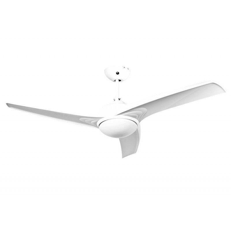 ventilateur design blanc avec lumière telecommande hyper silencieux