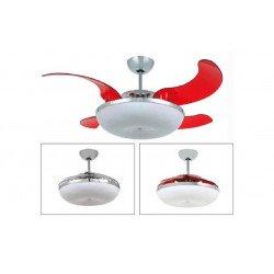 Mela de Vento, un point lumineux avec des pales escamotable, un ventilateur de plafond discret et puissant.