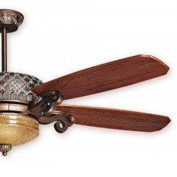 Ventilateur de plafond Bronze, simoun, une merveille de style classique inégalable. Peint à la main série limité de KlassFan