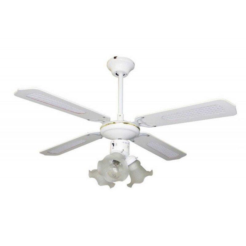 Ventilateur de plafond classique avec lumière 105 cm idéal pour 10 à 15 m².
